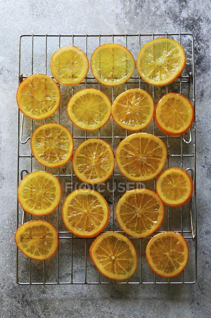 Fette di arancia candite — Foto stock