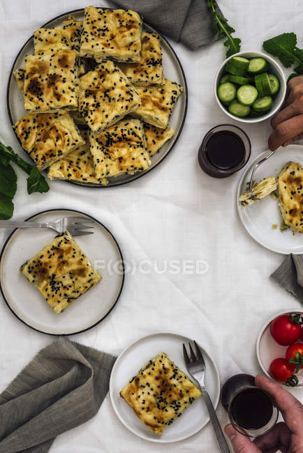 Cheese phyllo pastry stuffed — Stock Photo