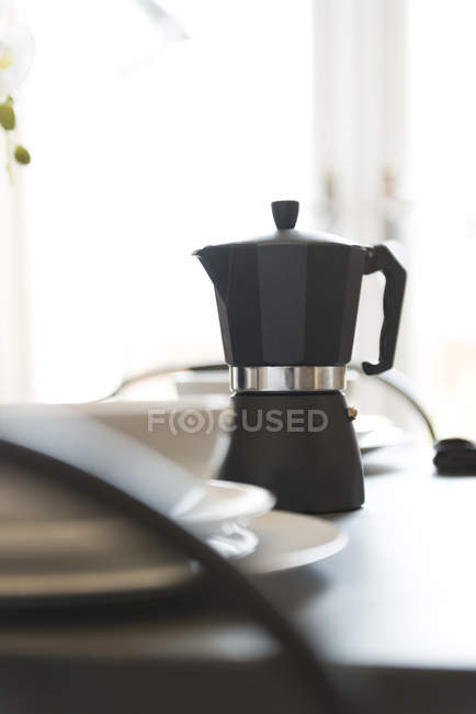 Espresso coffee maker — Stock Photo