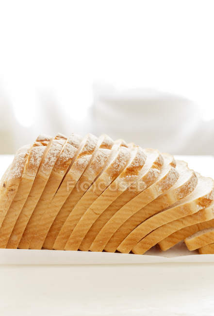 Slices of White Bread — Stock Photo