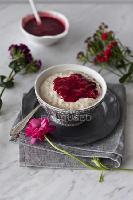 Budino di riso al latte di mandorla — Foto stock