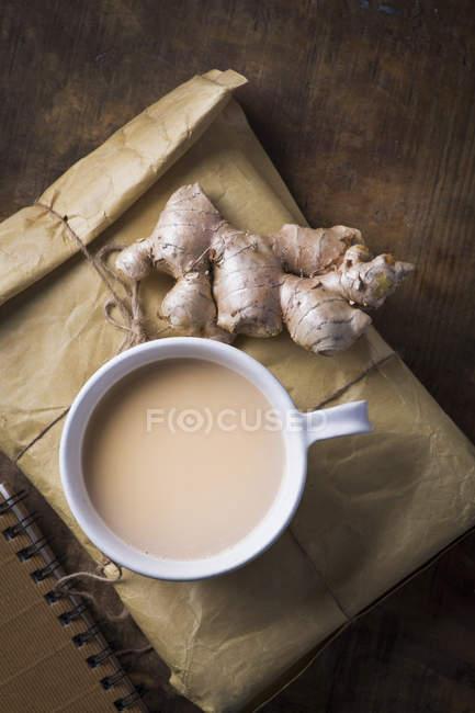 Индийские Масала чай с имбирем — стоковое фото