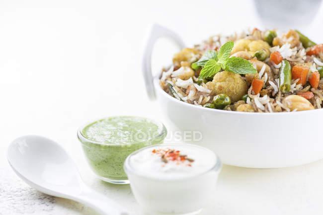 Épicé végétarien Byriani — Photo de stock