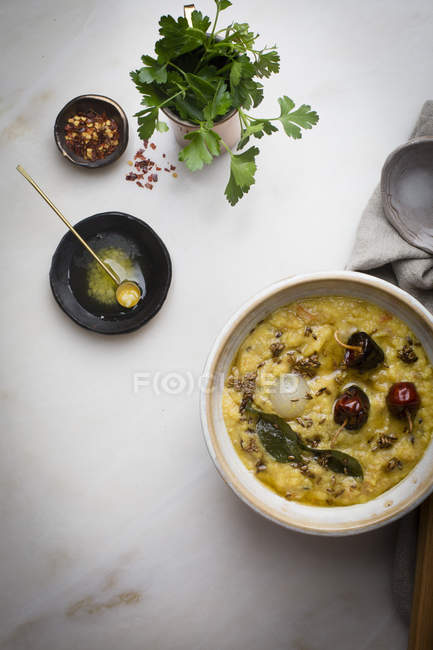 Indian lentil soup — Stock Photo