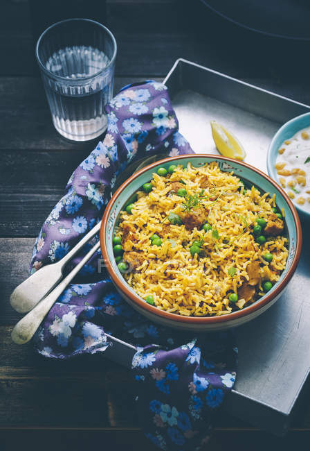 Soya Chunks Biryani — Stock Photo