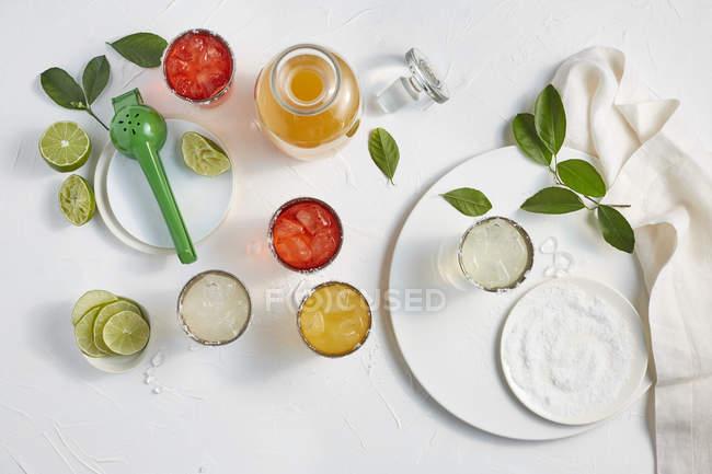 Aromen von Margaritas in Gläsern — Stockfoto