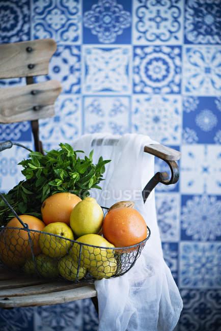 Fresh ripe Citrus fruits — Stock Photo