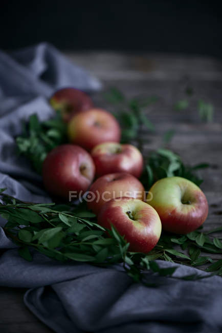 Fresh ripe red apples — Stock Photo