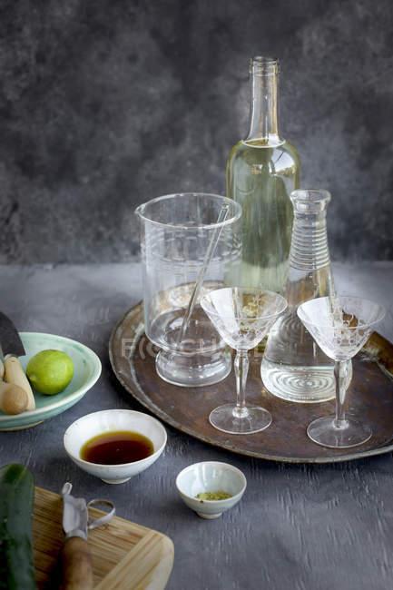 Cozimento de coquetel de vinho matcha — Fotografia de Stock