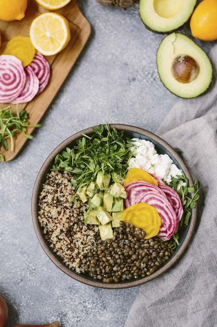 Spring Abundance Bowl — Stock Photo