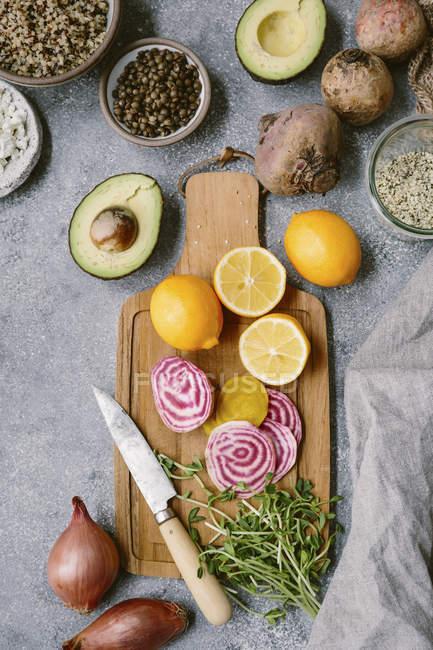 Ingredienti per Spring Abundance Bowl — Foto stock