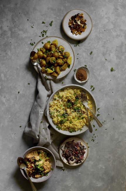 Biryani индийского риса блюдо — стоковое фото