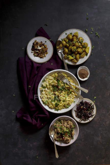 Індійська Biryani блюдом рису — стокове фото