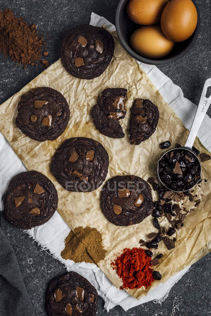 Mexican Hot Chocolate Cookies — Stock Photo