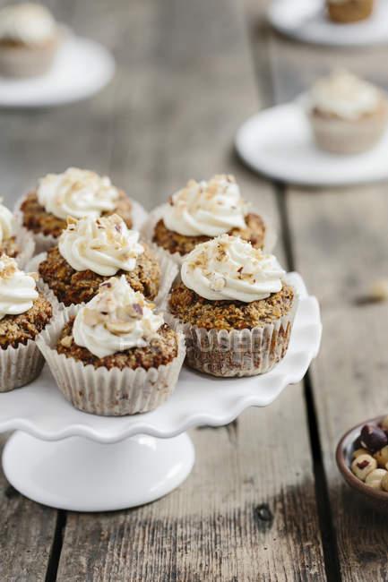 Cupcakes de cenoura doce — Fotografia de Stock