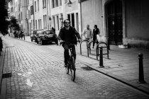 Riding on bike — Stock Photo