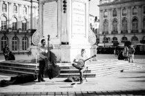 Banda de música de rua tocando na Place Stanislas — Fotografia de Stock