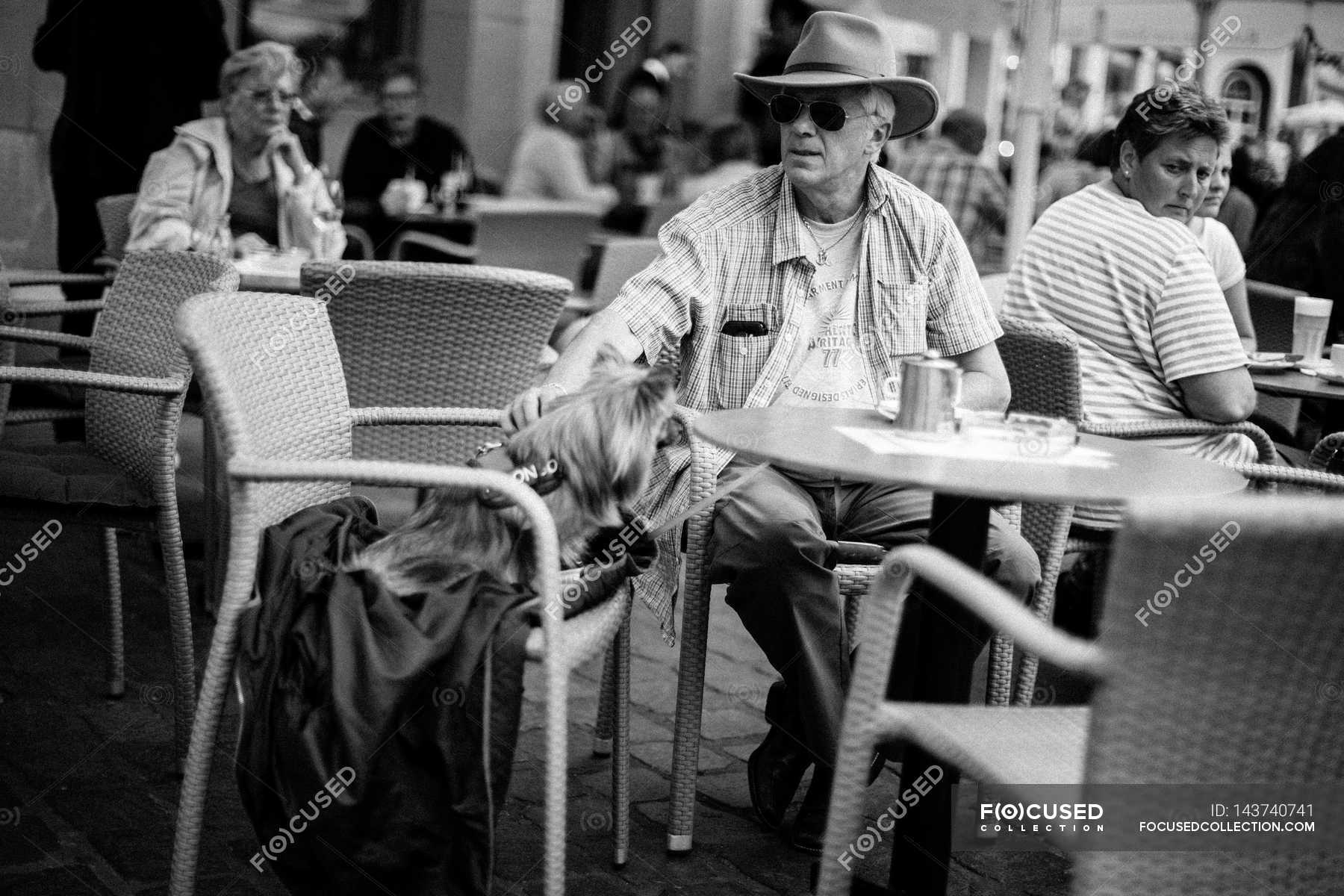 People Sitting At Street Cafe Front View Trier Stock Photo 143740741