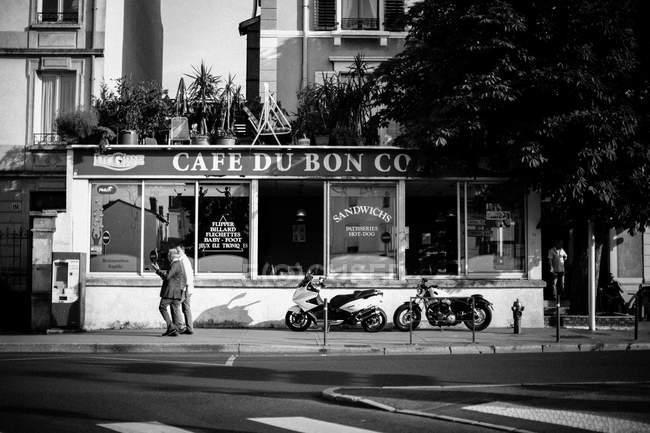 Blick auf Café auf der Straße — Stockfoto