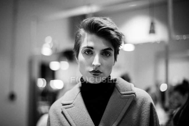 Model posing at Mercedes-Benz Kiev Fashion Days — Stock Photo