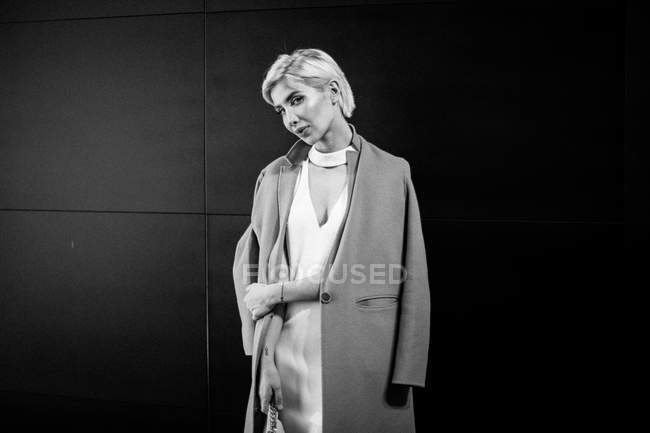 Model posing at Ukrainian Fashion Week Backstage — Stock Photo