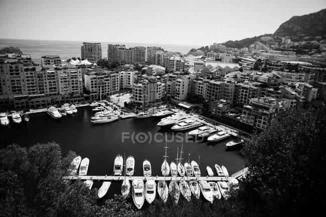 Moored yachts in Monaco — Stock Photo