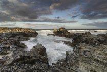 Paysage de Godrevy sur le littoral de Cornwall en Angleterre — Photo de stock
