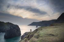 Sunset at high tide at Kynance Cove — Stock Photo