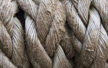 Старая гранжевая веревка — стоковое фото