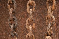 Worn rusty chains — Stock Photo