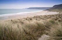 Sennen Bucht Strand und Sanddünen — Stockfoto