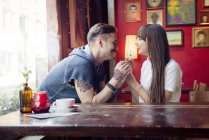 Couple enjoying being with each other — Stock Photo