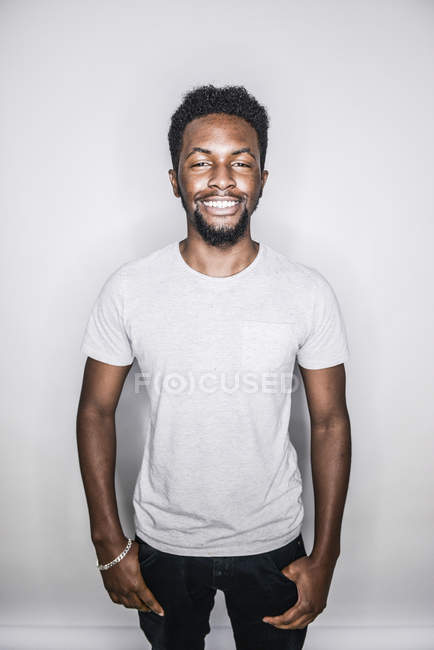Man posing in studio — Stock Photo