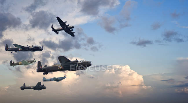 Flight formation of Battle of Britain — Stock Photo