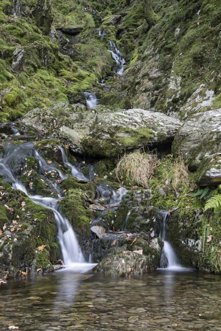 Paysage de la petite chute d'eau — Photo de stock