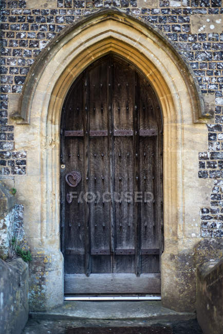 Wooden door detail — Stock Photo