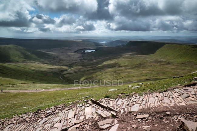 Paesaggio del Parco nazionale di Brecon Beacons — Foto stock
