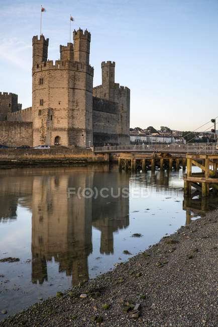 View of Caernarvon Castle — Stock Photo