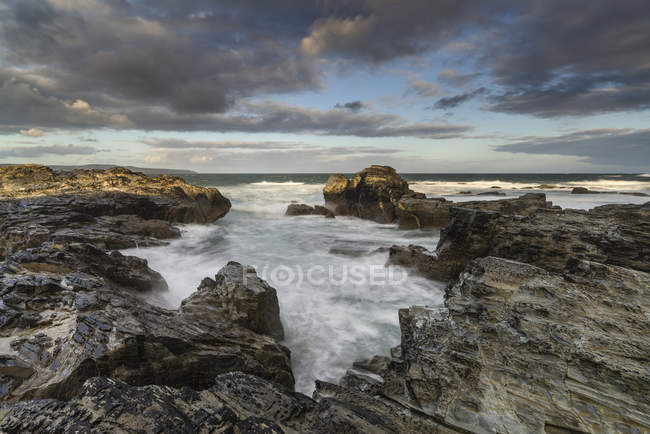 Landscape of Godrevy on Cornwall coastline in England — Stock Photo