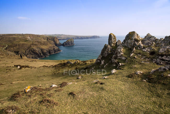 Scogliere di Kynance Cove — Foto stock