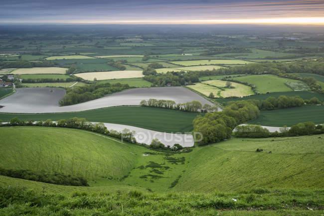 Paesaggio di campagna inglese di rotolamento foto stock for Piani di campagna inglese