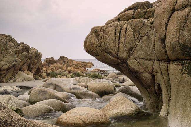 Ландшафт пляжа Порт Нанвен — стоковое фото