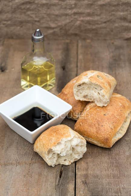 Olive bread rolls — Stock Photo
