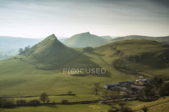 Landscape of Chrome Hill and Parkhouse Hill — Stock Photo