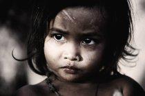 Retrato de menina do Camboja — Fotografia de Stock