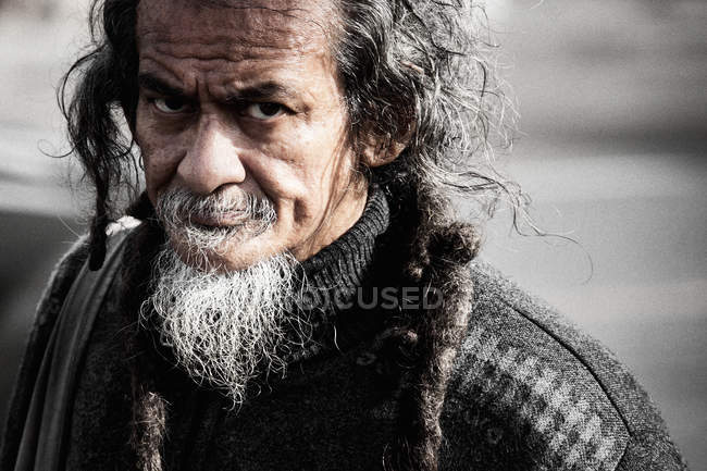 Thai mature bearded man — Stock Photo