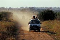Seregenti national Park, safari car — Stock Photo