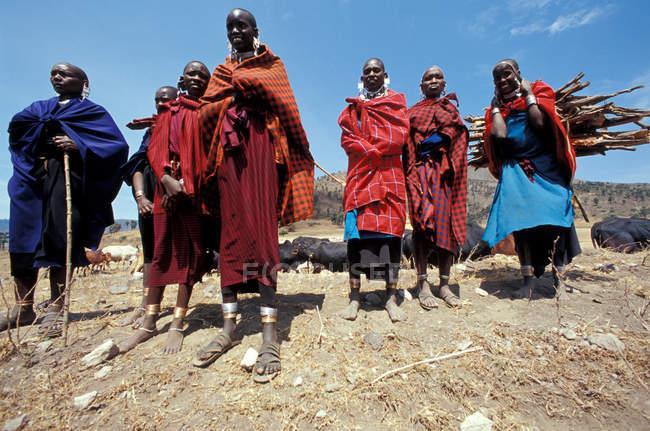 Tansania, Masai Frauen — Stockfoto