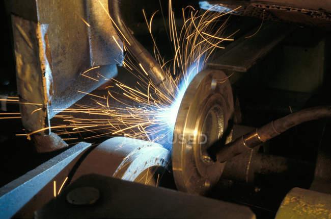 Steel disk moldering — Stock Photo