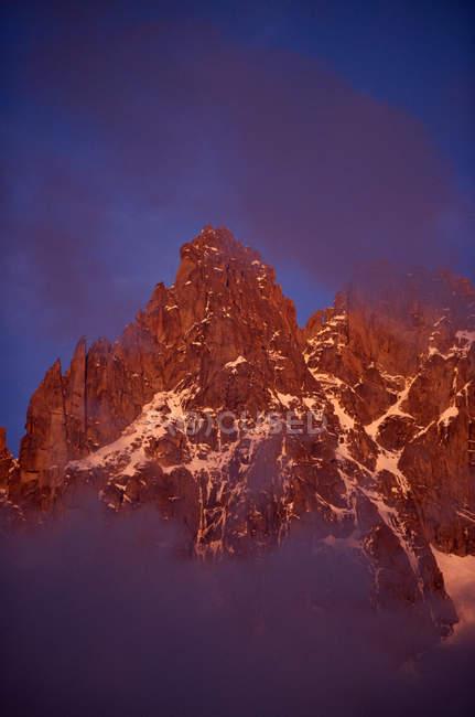 Grupo Mont Blanc al atardecer - foto de stock
